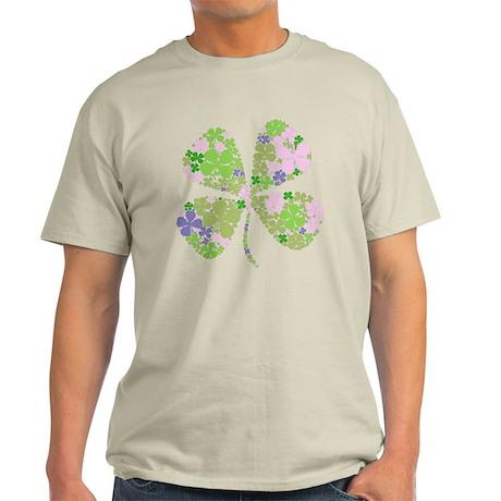 Lucky Multi Four-Leaf Clover Light T-Shirt
