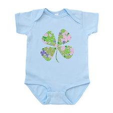 Lucky Multi Four-Leaf Clover Infant Bodysuit