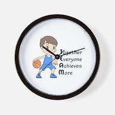 BASKETBALL TEAM Wall Clock