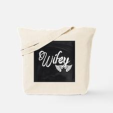 Vintage Wifey Tote Bag