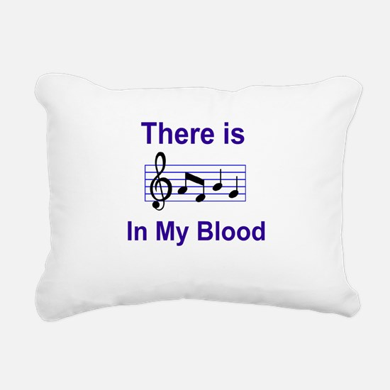 There is music in my blood Rectangular Canvas Pill