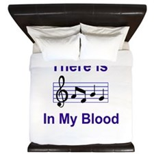There is music in my blood King Duvet