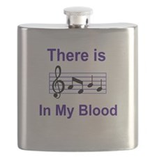 There is music in my blood Flask