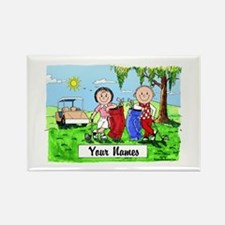 Cute Golfing Rectangle Magnet