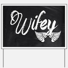 Vintage Wifey Yard Sign