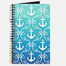 118451660 Nautical Knots Ombre Blue Journal