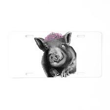 Princess lucy the wonder pig Aluminum License Plat