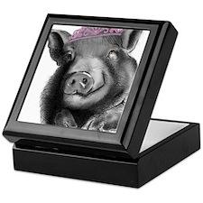 Princess lucy the wonder pig Keepsake Box