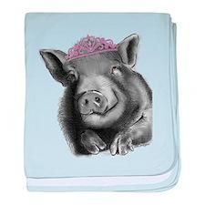 Princess lucy the wonder pig baby blanket