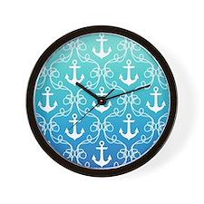 118451660 Nautical Knots Ombre Blue Wall Clock