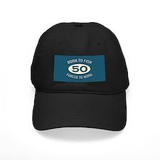 50th Birthday Fishing Baseball Hat