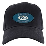 Birthdays 50 fishing Baseball Cap with Patch