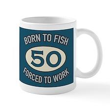 50th Birthday Fishing Mugs