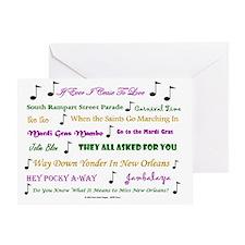 Mardi Gras Music Greeting Card