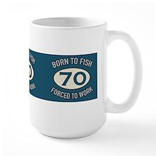 70th Birthday Fishing Mugs
