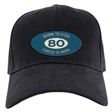 80th Birthday Fishing Baseball Hat