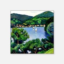 """Macke - View of Tegernsee Square Sticker 3"""" x 3"""""""