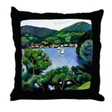 Macke - View of Tegernsee Throw Pillow