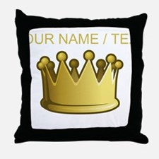 Custom Crown Throw Pillow