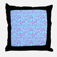 Colorful Peace Signs Throw Pillow