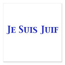 """Je Suis Juif Square Car Magnet 3"""" x 3"""""""