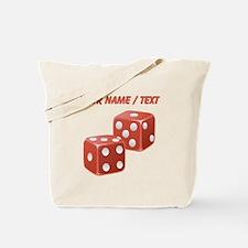 Custom Red Dice Tote Bag