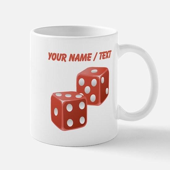 Custom Red Dice Mugs