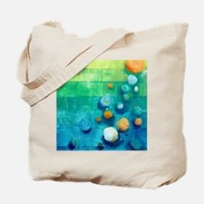 Blue Green Shells Colorful Abstract Art Tote Bag