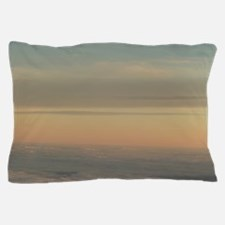 Sky with clouds in blue and pink sunse Pillow Case