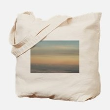 Sky with clouds in blue and pink sunset e Tote Bag