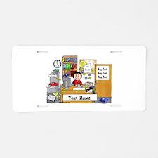 Office - Messy, Female Aluminum License Plate