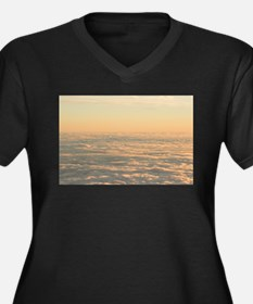 Sky with clouds in blue and pink Plus Size T-Shirt