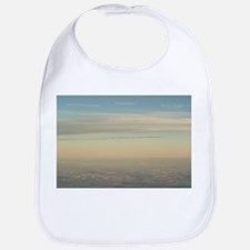 Sky with clouds in blue and pink sunset evenin Bib