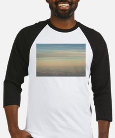 Sky with clouds in blue and pink s Baseball Jersey
