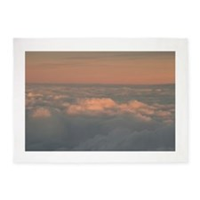 Sky with clouds in blue and pink su 5'x7'Area Rug