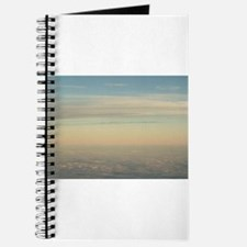 Sky with clouds in blue and pink sunset ev Journal