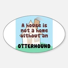 Otterhound Home Oval Decal