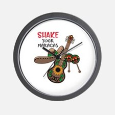 SHAKE YOUR MARACAS Wall Clock