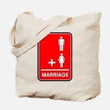 Man Plus Woman Equals Marriag Tote Bag