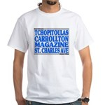 New Orleans Street Names White T-Shirt