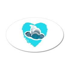 BELUGA WHALE IN HEART Wall Decal