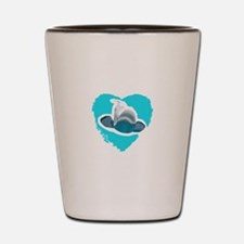 BELUGA WHALE IN HEART Shot Glass