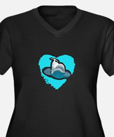 BELUGA WHALE IN HEART Plus Size T-Shirt