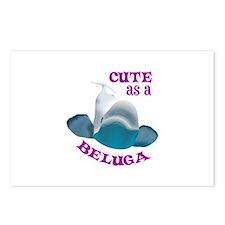 CUTE AS A BELUGA Postcards (Package of 8)