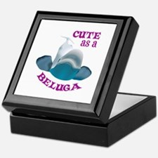 CUTE AS A BELUGA Keepsake Box