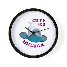 CUTE AS A BELUGA Wall Clock