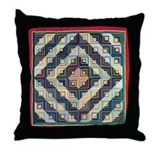 Block Quilt Pattern Throw Pillow
