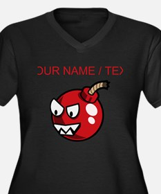 Custom Cartoon Cherry Bomb Plus Size T-Shirt