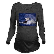 Orca Flukes Long Sleeve Maternity T-Shirt