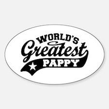 World's Greatest Pappy Sticker (Oval)